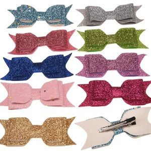 Other - 12 pieces glitter Hair bow